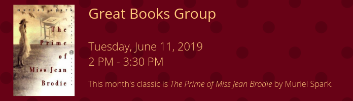 Great Books Group at the Main Library