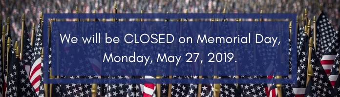 The Royersford Library will be CLOSED on Memorial Day, Monday, May 27, 2019