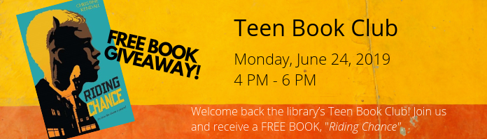 Teen Book Club at the Main Library