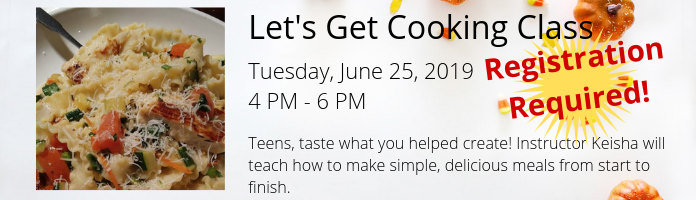 Let's Get Cooking Class at the Main Library
