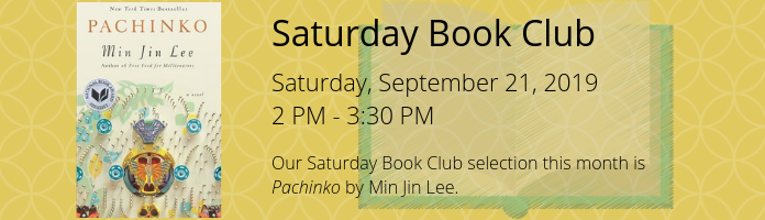 Saturday Book Club at the Main Library