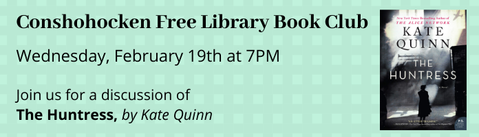 Conshy Book Club: 3rd Wednesday of the month