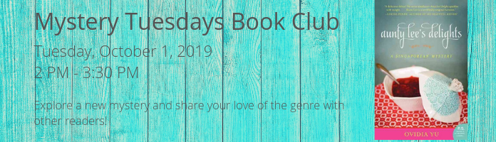 Mystery Tuesdays Book Club at the Main Library