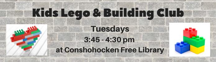 Lego Club returns to Conshohocken Library