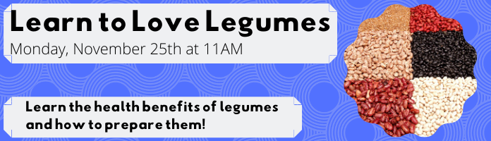 Learn to Love Legumes at the Main Library