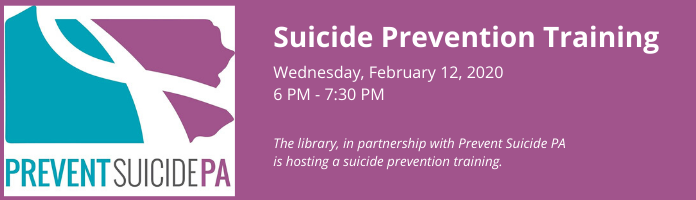 Suicide Prevention Training at the Main Library