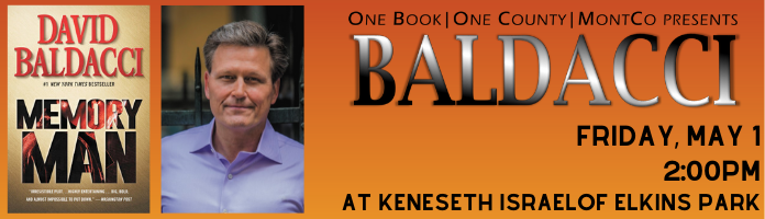 One Book, One County with David Baldacci in Elkins Park