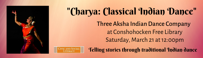 Classical Indian Dance at Conshohocken Free Library