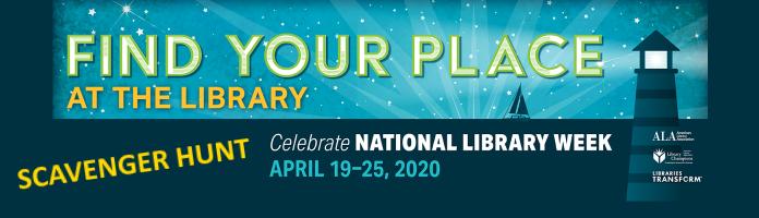 National Library Week Scavenger Hunt