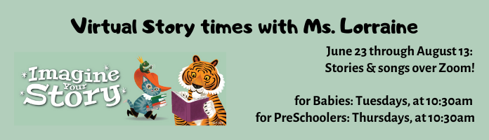 Summer Story times at Conshohocken Free Library