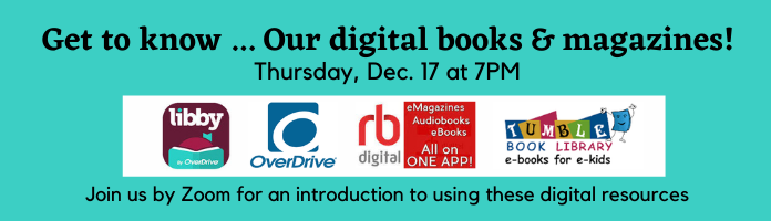 Get to know ... our digital ebooks, audiobooks & magazines