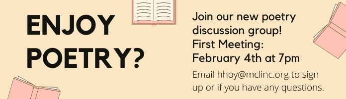 New! Poetry Discussion Group