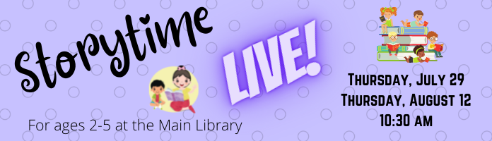 Storytime Live! at the Main Library
