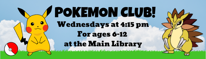 Pokémon Club at the Main Library