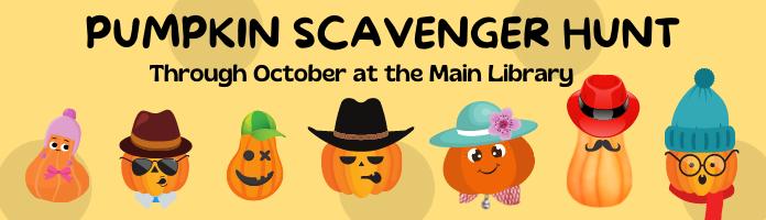 Pumpkin Scavenger Hunt at the Main Library
