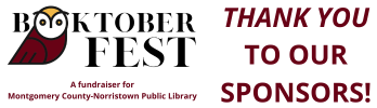 The library thanks the sponsors of its recent fundraiser, booktoberfest.